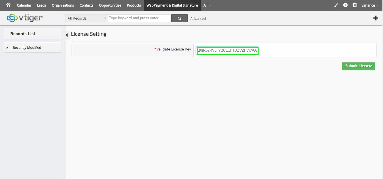 WebPayment user guide for vTiger 6 x – CRMTiger Knowledge Base